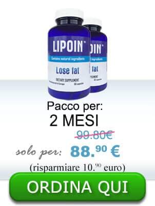 2 bottiglie di pillole per dimagrire e la fusione in sovrappeso - Lipoin per 2 mesi + prezzo promozionale - 51,48 euro